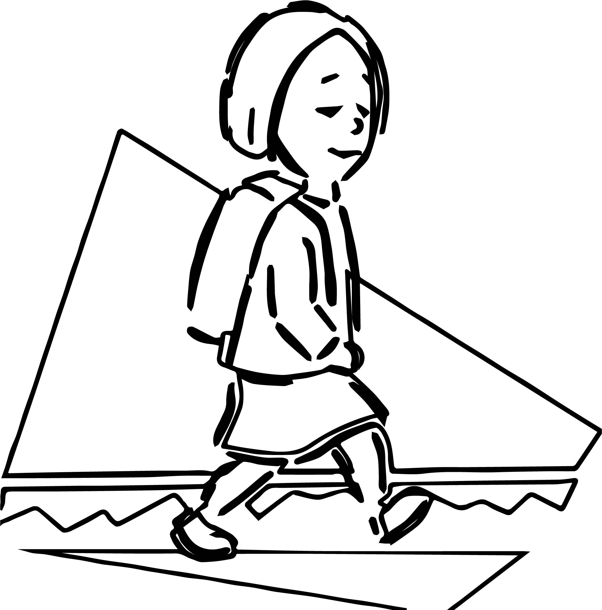 Backpack Coloring Page Any Kid With Backpack Coloring Page Wecoloringpage