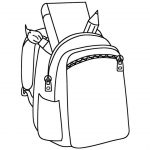 Backpack Coloring Page Backpack Coloring Page Valid Pages 10 Of 4 Futurama