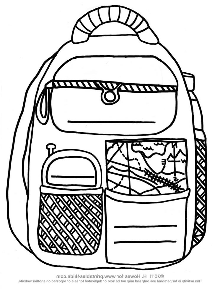 Backpack Coloring Page Coloring Backpacks 9viq Backpack Coloring Page Mofassel Crafted Here