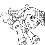 Backpack Coloring Page Zuma With Scuba Gear Backpack Coloring Page Free Printable