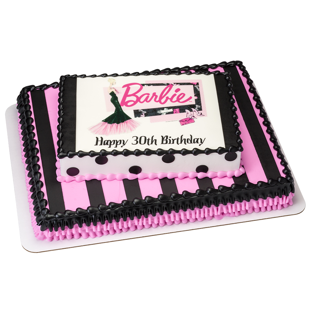 Barbie Birthday Cakes Barbie 30th Birthday Cake Decopac