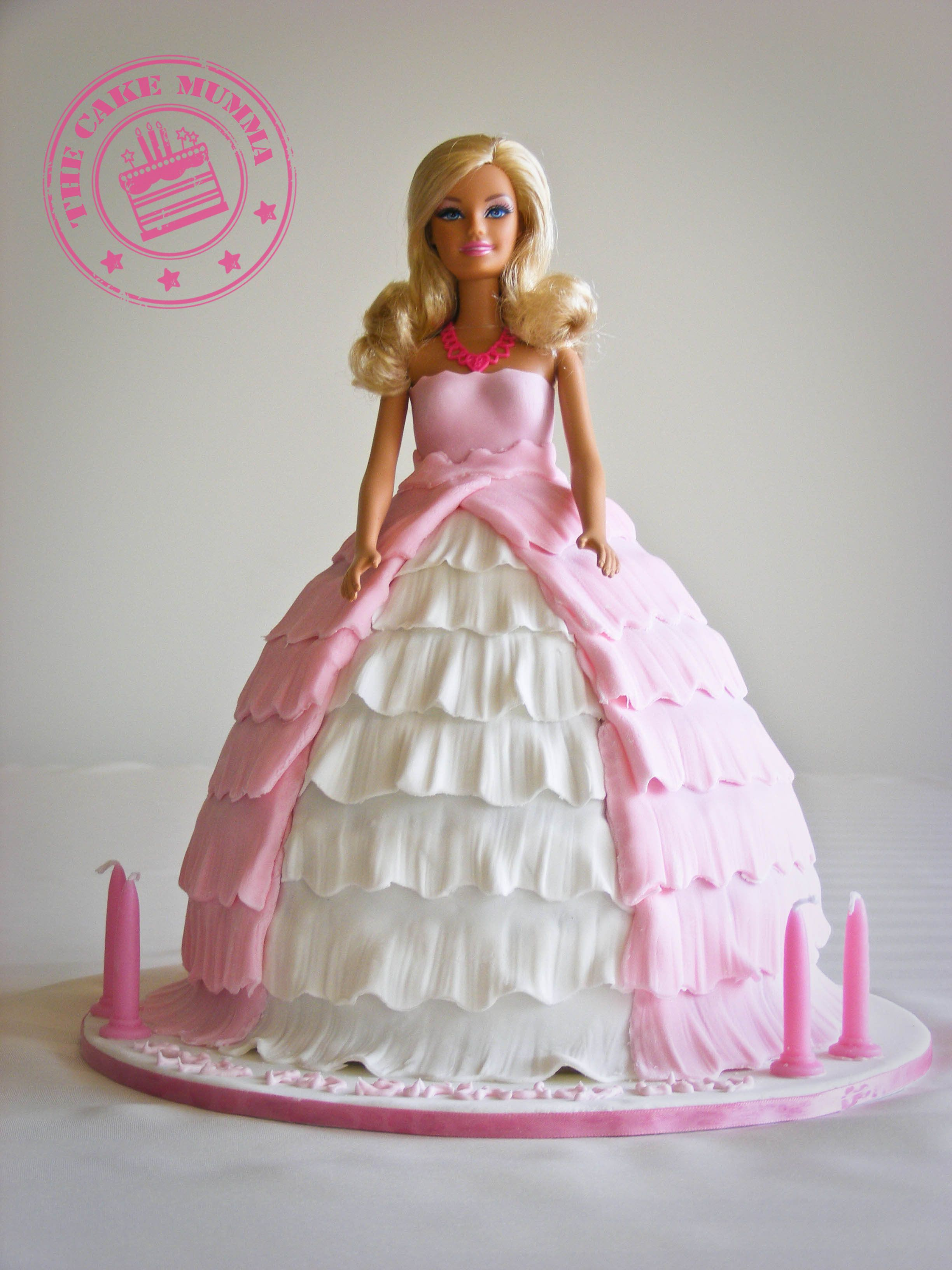 Barbie Birthday Cakes Barbie Cake A Gorgeous Birthday Cake For A 4 Year Old Girl Barbie