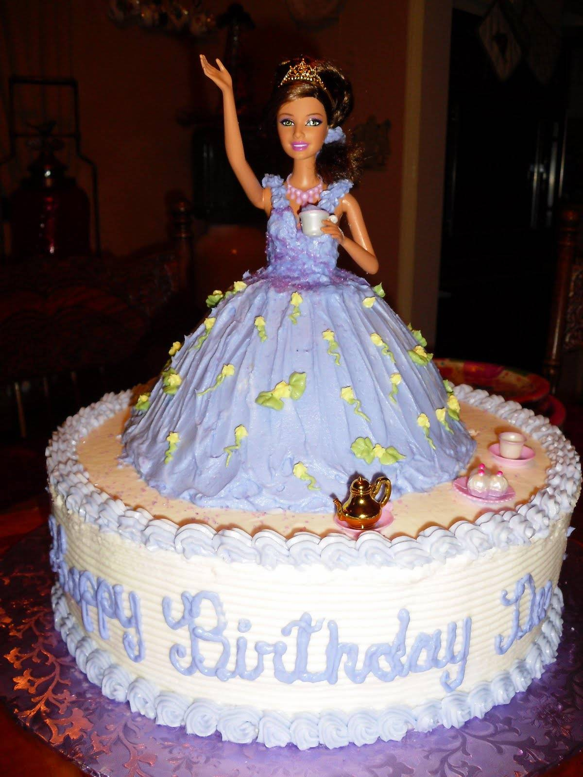 Barbie Birthday Cakes Barbie Cakes Decoration Ideas Little Birthday Cakes