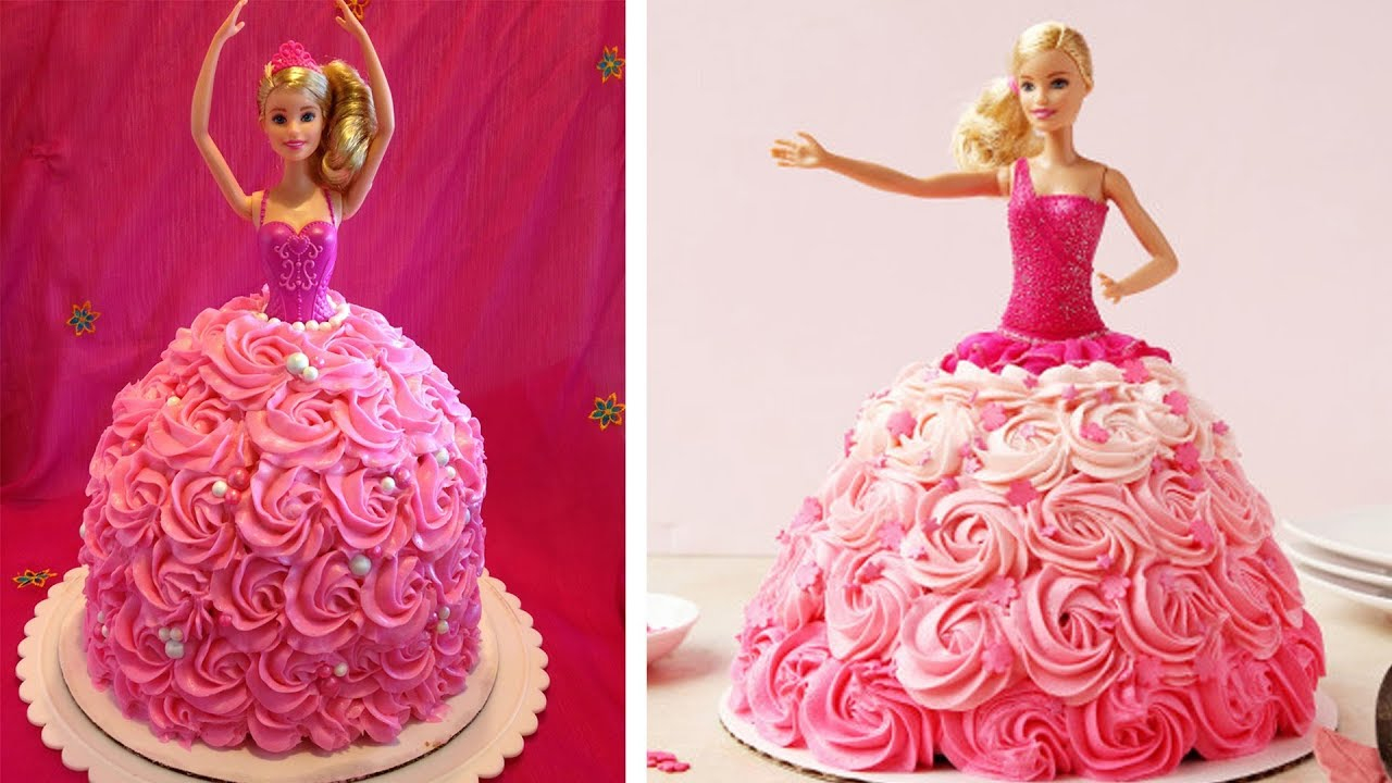 Barbie Birthday Cakes How To Make A Barbie Doll Cake At Home Barbie Birthday Cake Recipe
