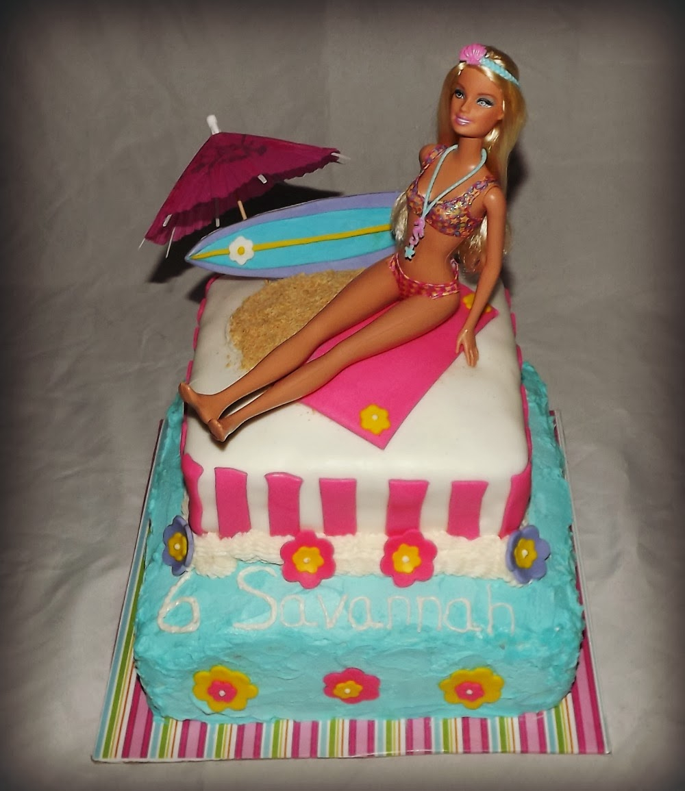 Barbie Birthday Cakes Mandys Cakes Beach Barbie Birthday Cake For Savannah