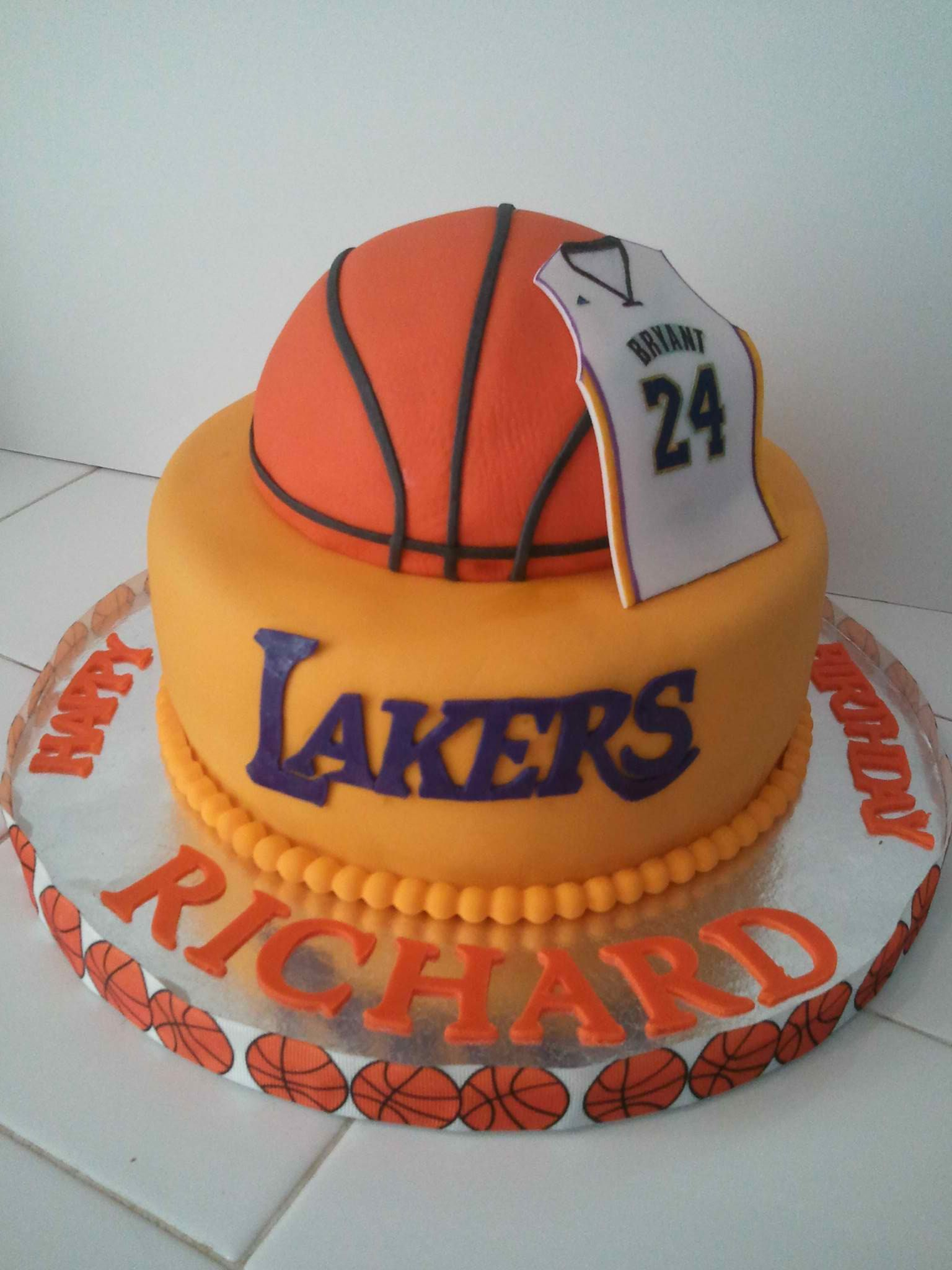 1536 X 2048 In 27 Wonderful Picture Of Basketball Birthday Cake