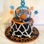 Basketball Birthday Cakes Knicks Fan Happy Birthday Basketball Cake Cakecentral