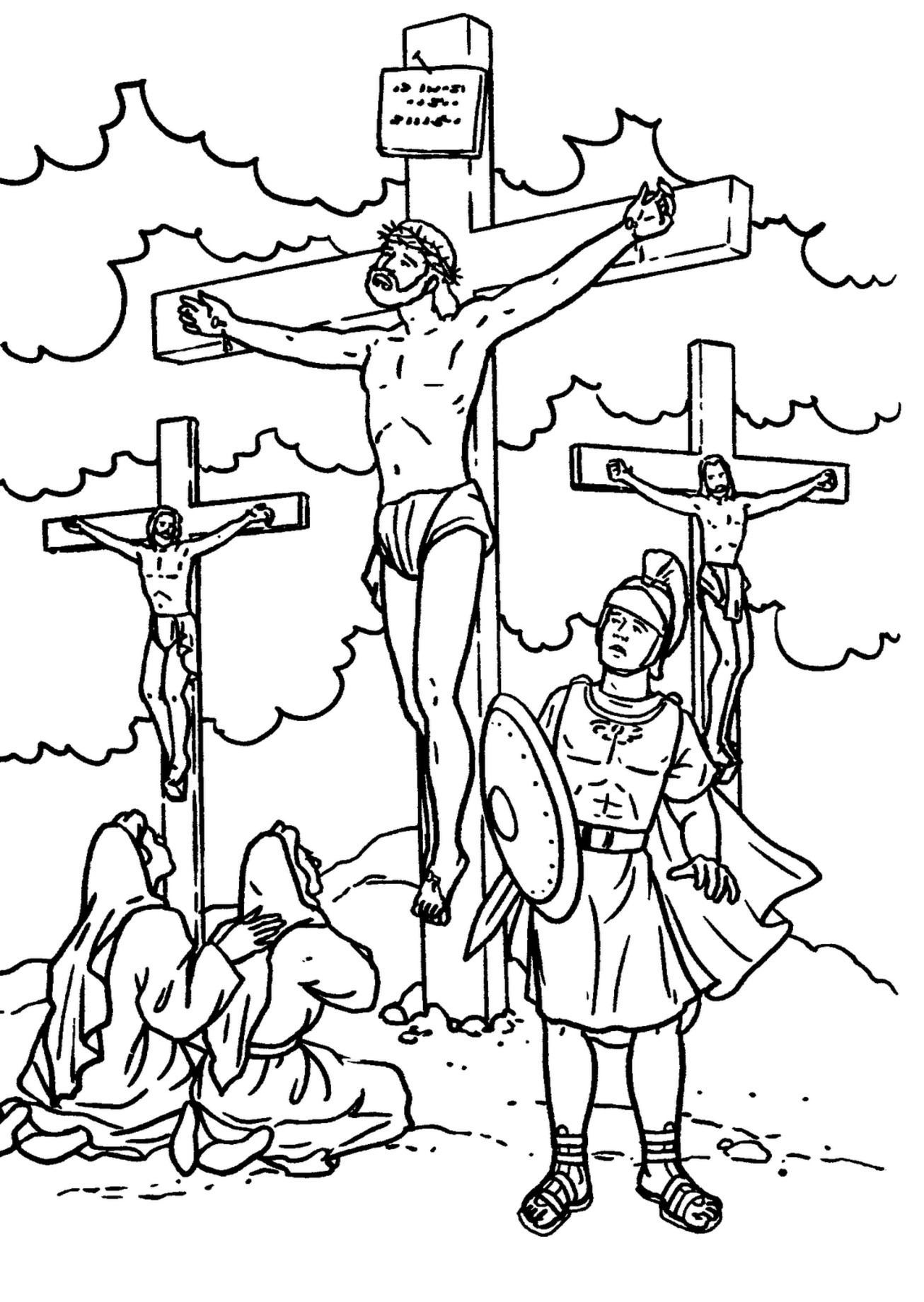 Bible Story Coloring Pages Bible Story Coloring Pages Jesus Crossed Coloringstar