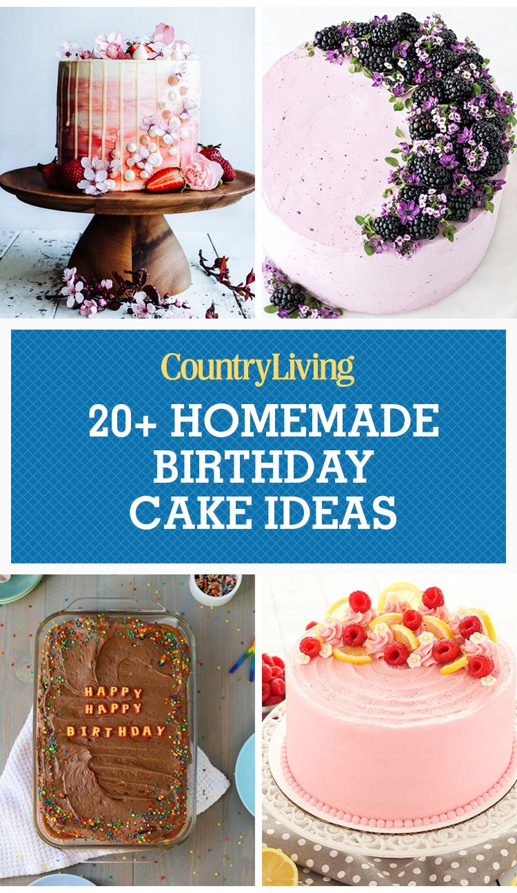 Birthday Cake For Women 24 Homemade Birthday Cake Ideas Easy Recipes For Birthday Cakes