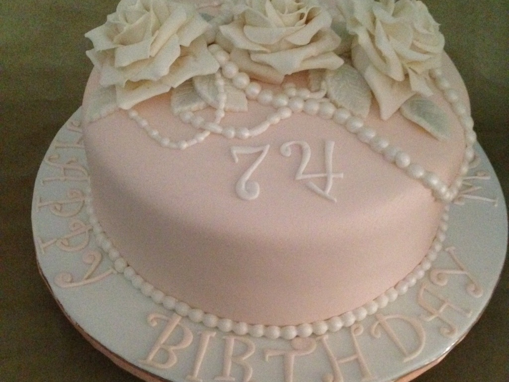 Birthday Cake For Women 74th Birthday Cake For A Female Cakecentral