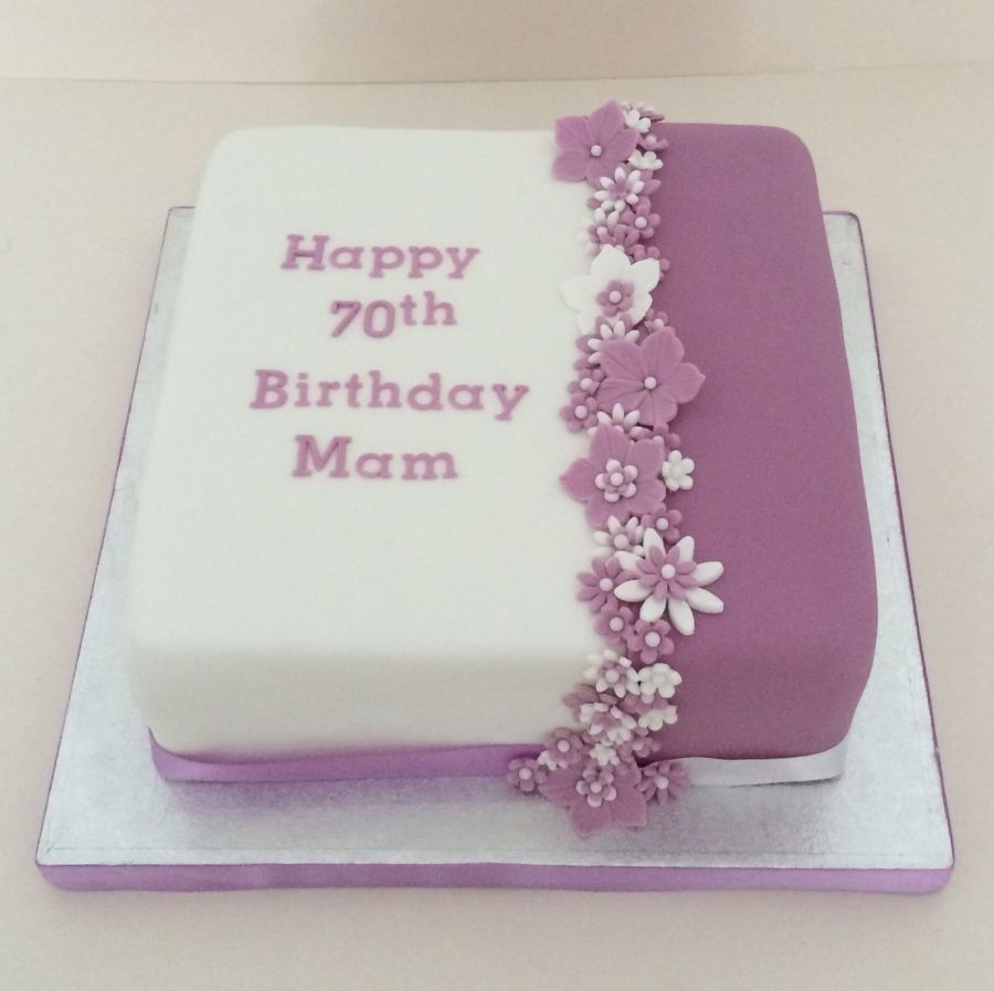 Birthday Cake For Women Purple Cake Flowers Decorations Google Search Torty Inpircie