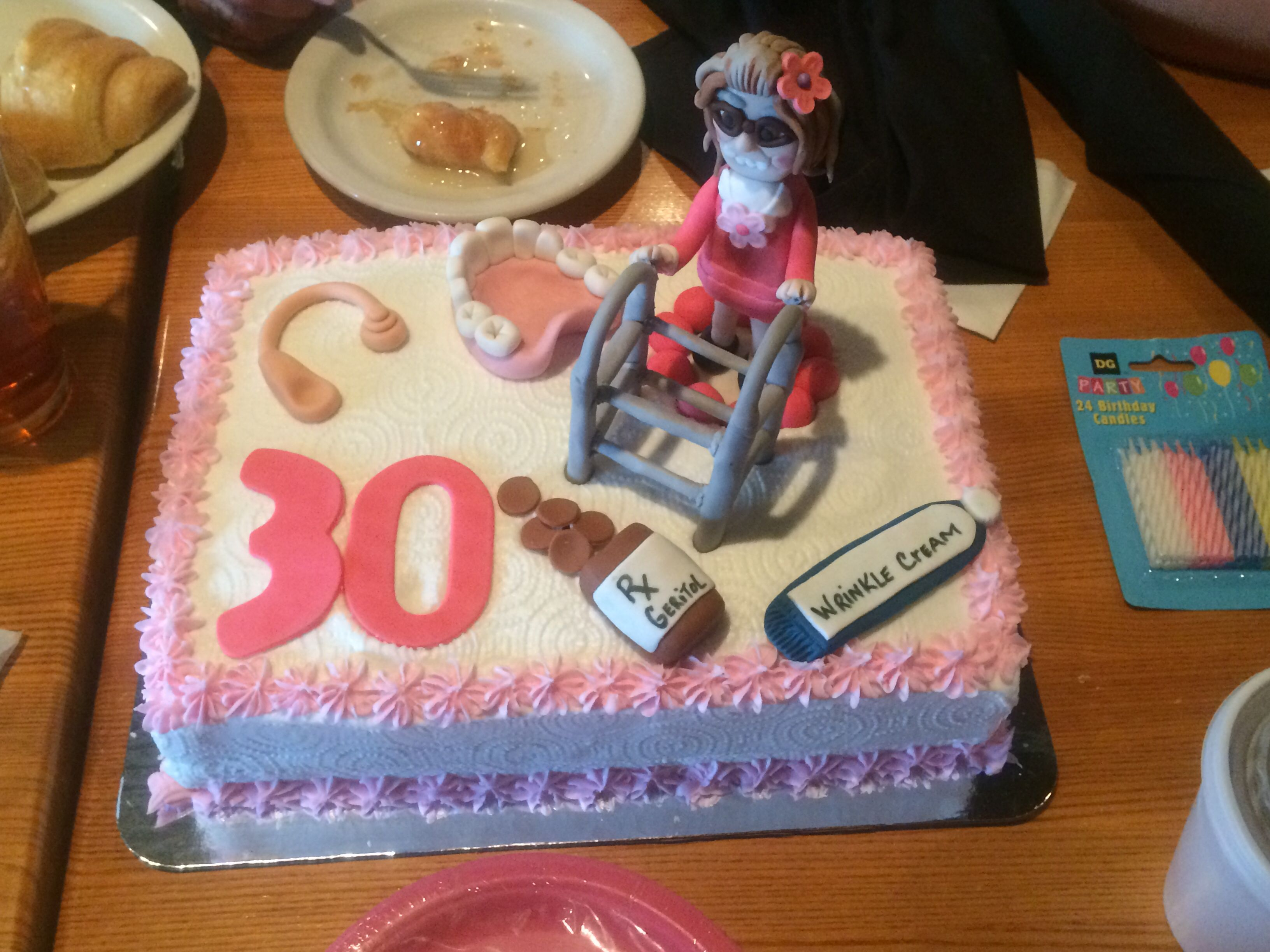 Birthday Cake Funny Happy 30th Birthday Cutest Cake Ever Old Lady Cake Funny Cake