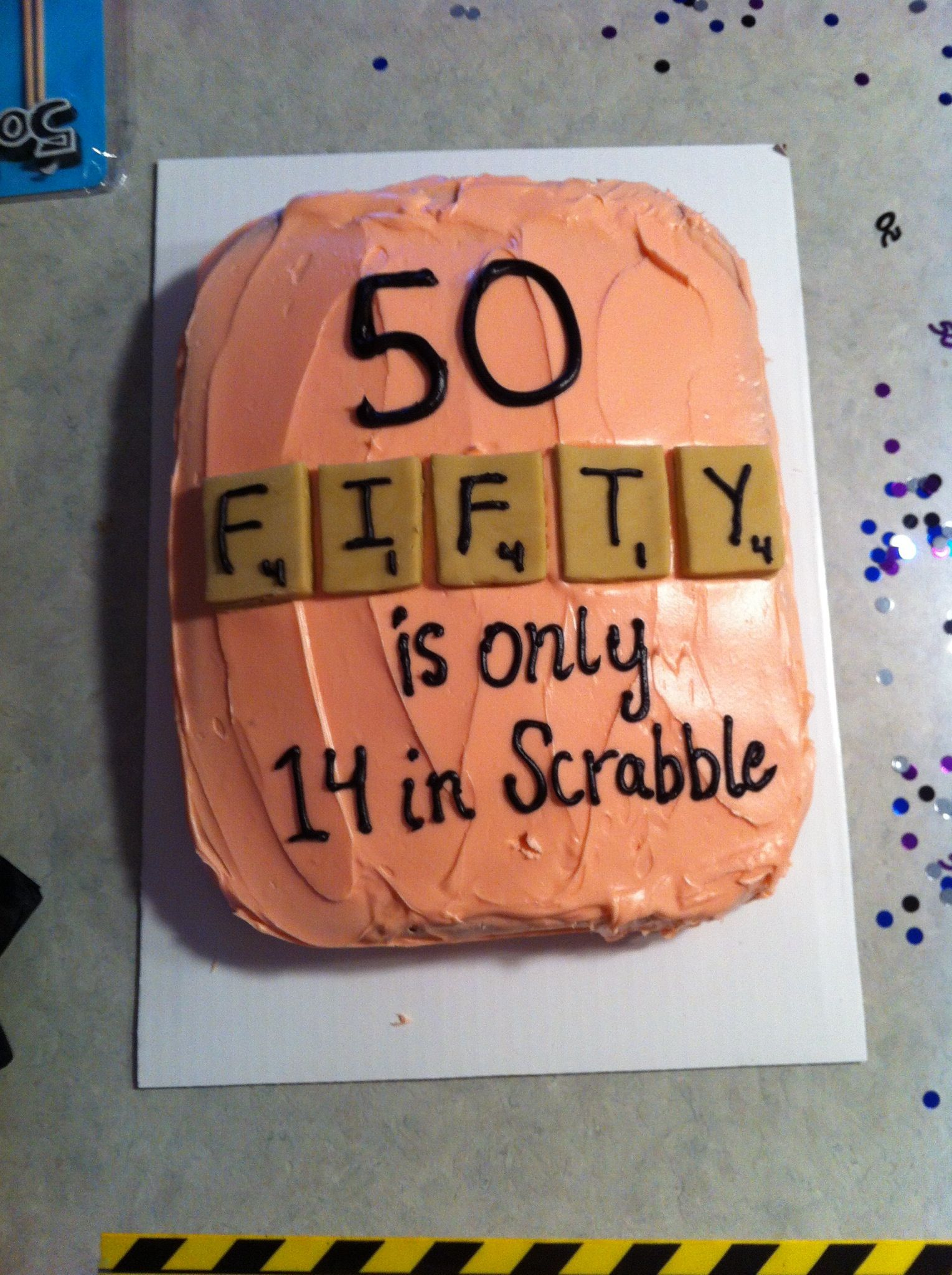 Birthday Cake Funny Scrabble Cake Great Funny 50th Birthday Cake50 Its Only A Number