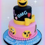 Birthday Cake Ideas For Girls Emoji Cake Emojies Pinterest Emoji Cake Cake And