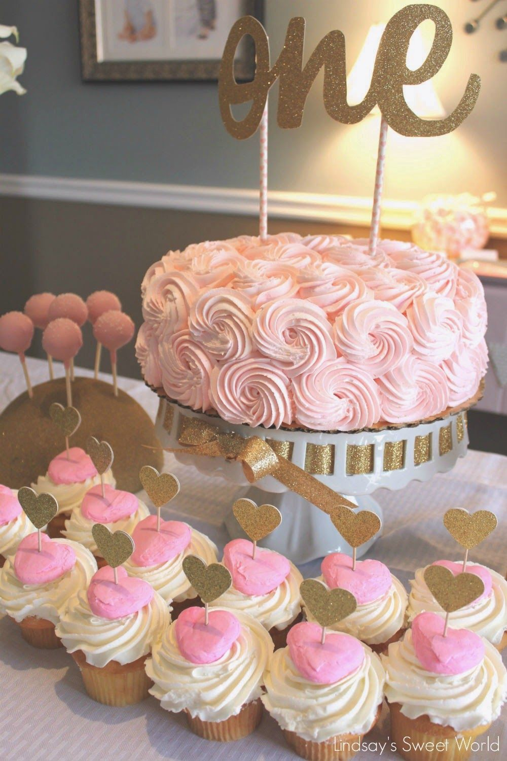 Birthday Cake Ideas For Girls Olivia Cates Pink Gold First Party Published January 8 2019 At 1000 X 1500