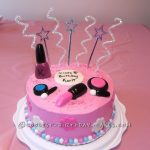 Birthday Cake Ideas For Girls Sweet Makeup Cake For An 8 Year Old Girl Cake And Chocolate