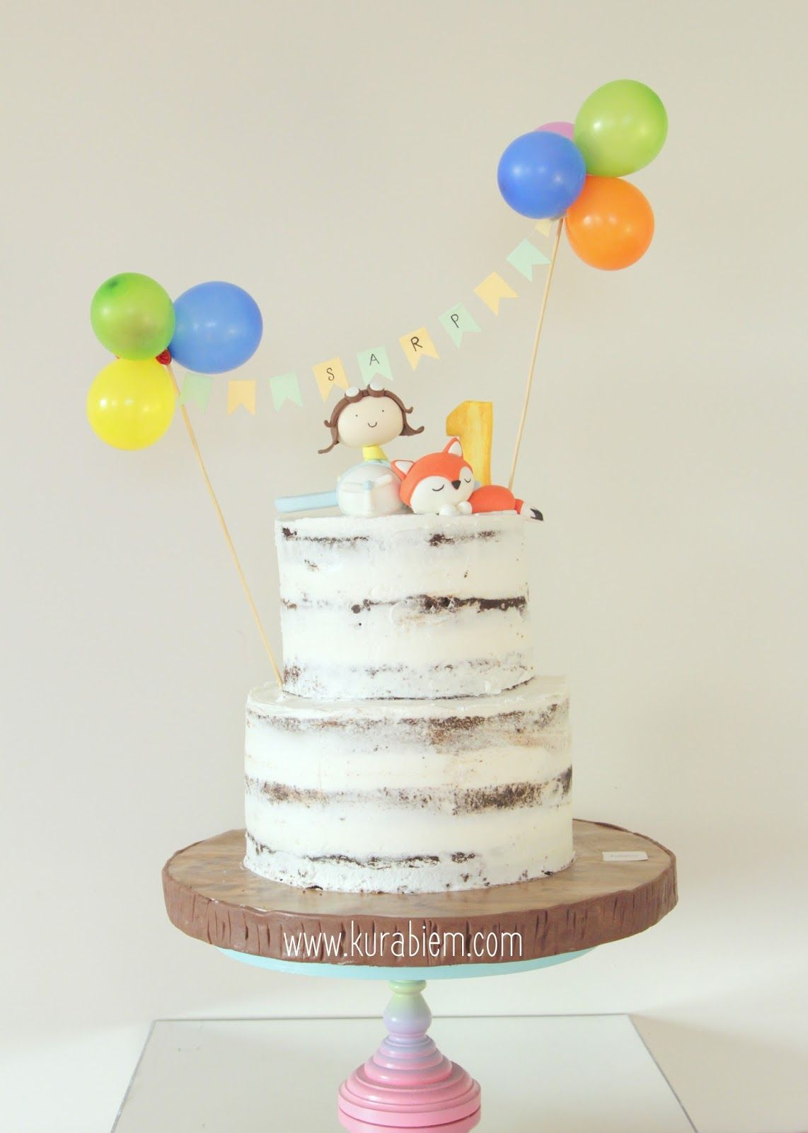 Birthday Cake Image Bear Cake First Birthday Cake Naked Cake Pilot Cake First