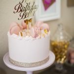 Birthday Cake Image Modern Pink And Gold Birthday Cake Cakes Pinterest Birthday