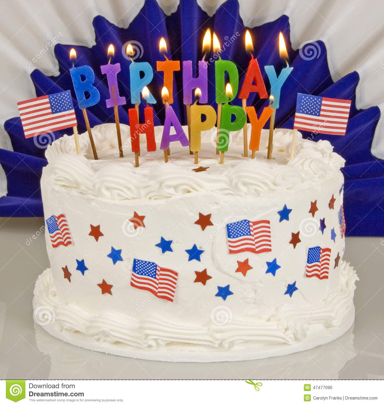 Birthday Cake Pic Download Patriotic 4th Of July Birthday Cake Stock Photo Image Of Holiday
