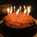 Birthday Cake With Lots Of Candles Birthday Cake Striding Out