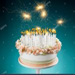 Birthday Cake With Lots Of Candles Birthday Cake With Lots Of Burning Candles Stock Photo 35231420 Alamy