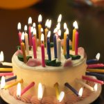 Birthday Cake With Lots Of Candles Candle Birthday Cakes