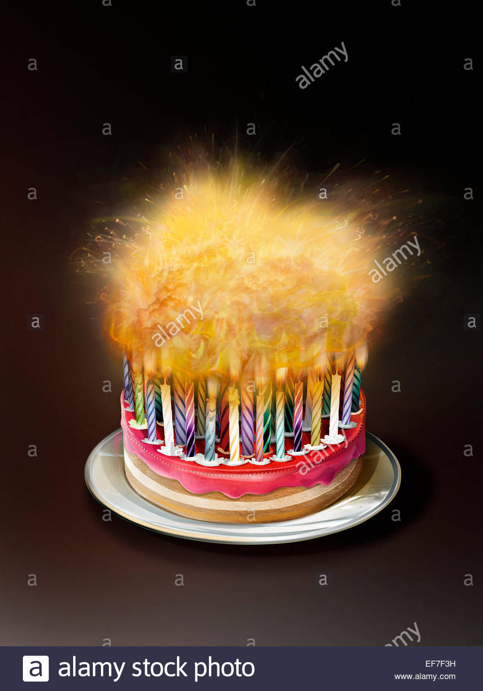 23+ Beautiful Image of Birthday Cake With Lots Of Candles