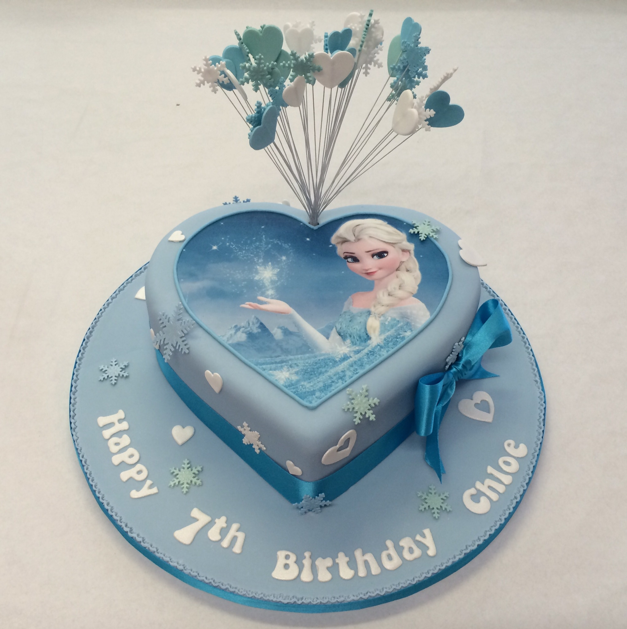 Birthday Cakes For Girls Heart Shaped Frozen Cake Girls Birthday