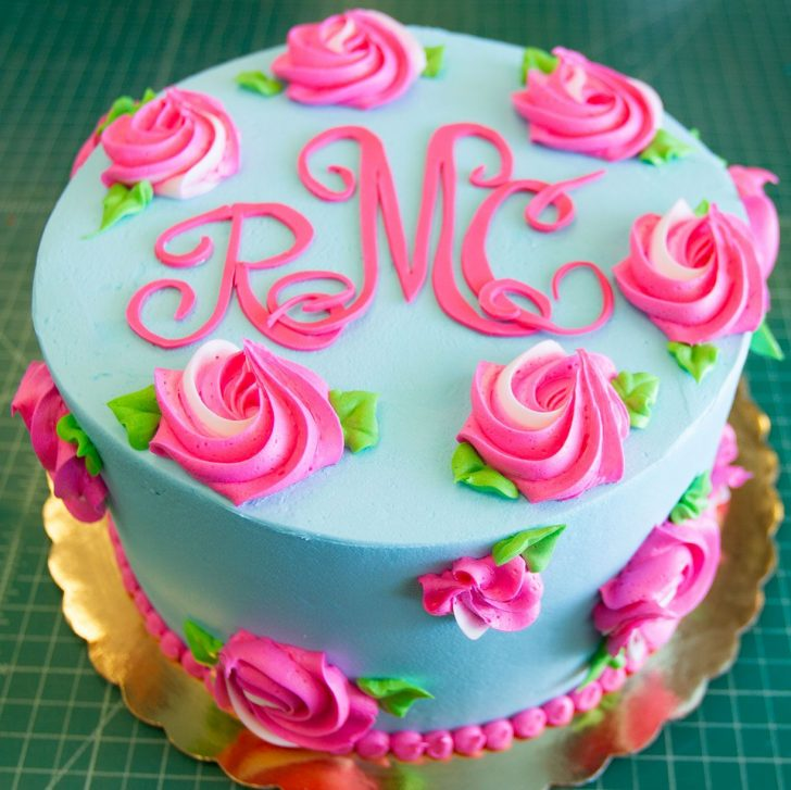 Birthday Cakes Images A Lilly Pulitzer Inspired Floral Birthday Cake Cake 084