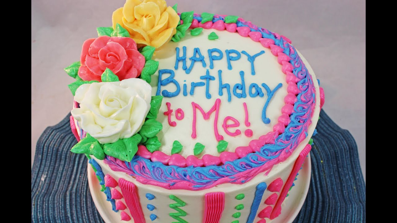 Birthday Cakes Images How To Make A Birthday Cake Beginners Tutorial Youtube