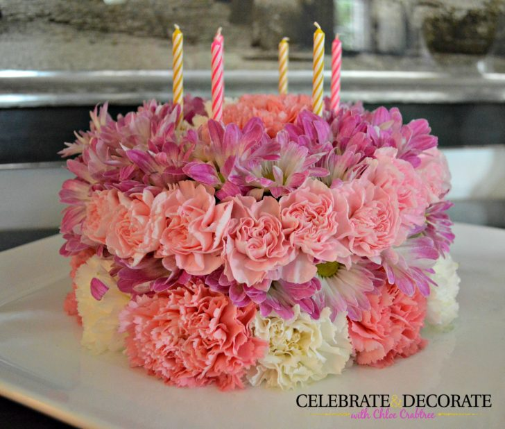 Birthday Flower Cake How To Make A Floral Birthday Cake Celebrate Decorate