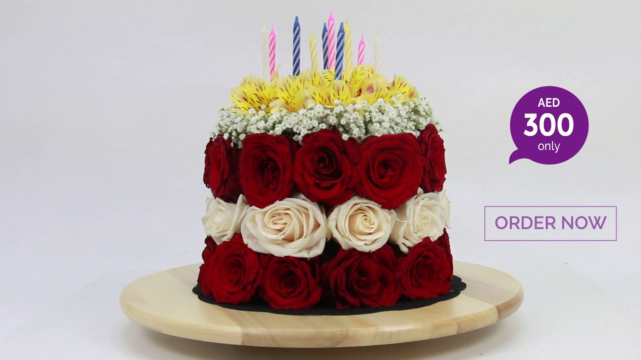 Birthday Flower Cake Introducing Birthday Flower Cake June Flowers Dubai Youtube