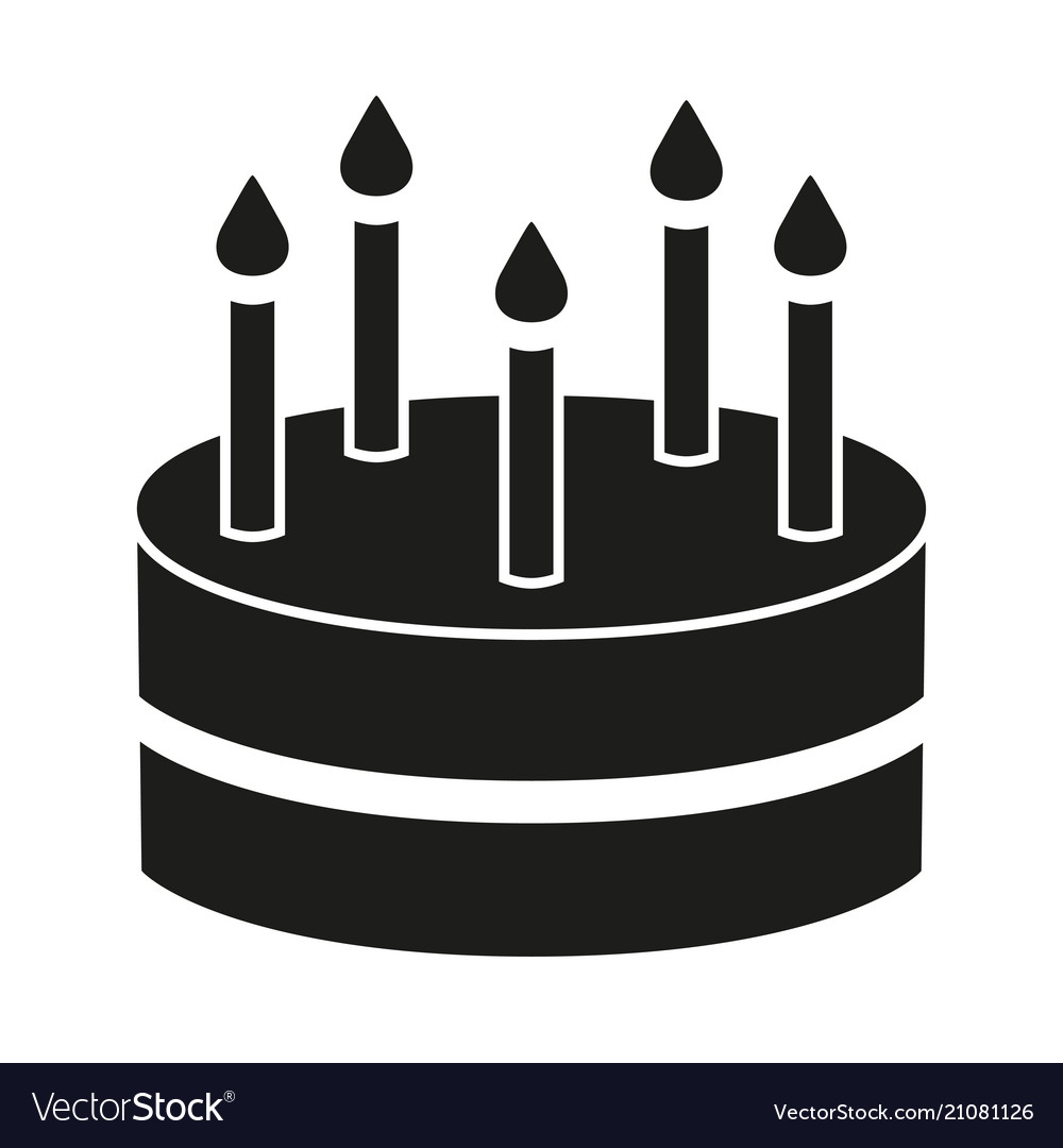 Black And White Birthday Cake Black And White Birthday Cake 5 Candles Silhouette