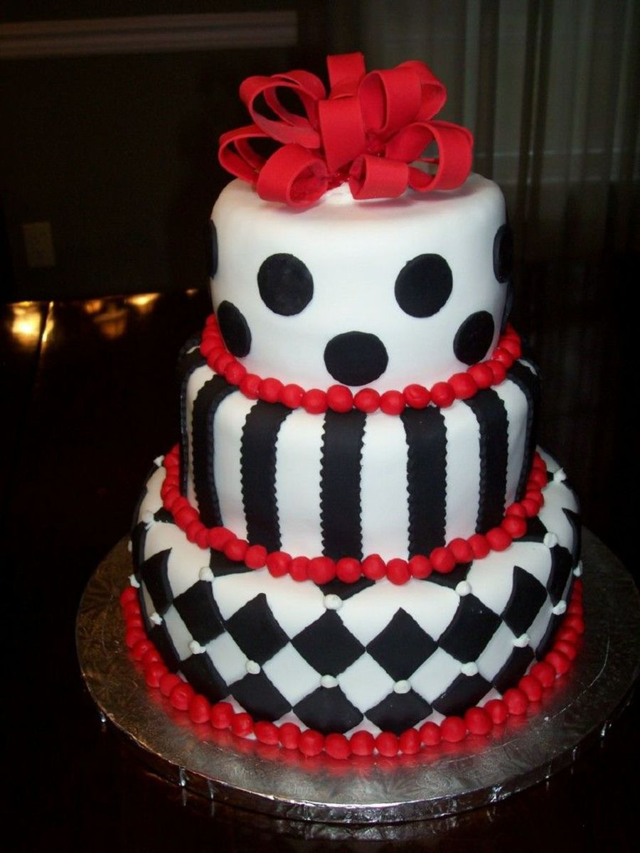 Black And White Birthday Cake Black And White Birthday Cake Cakecentral