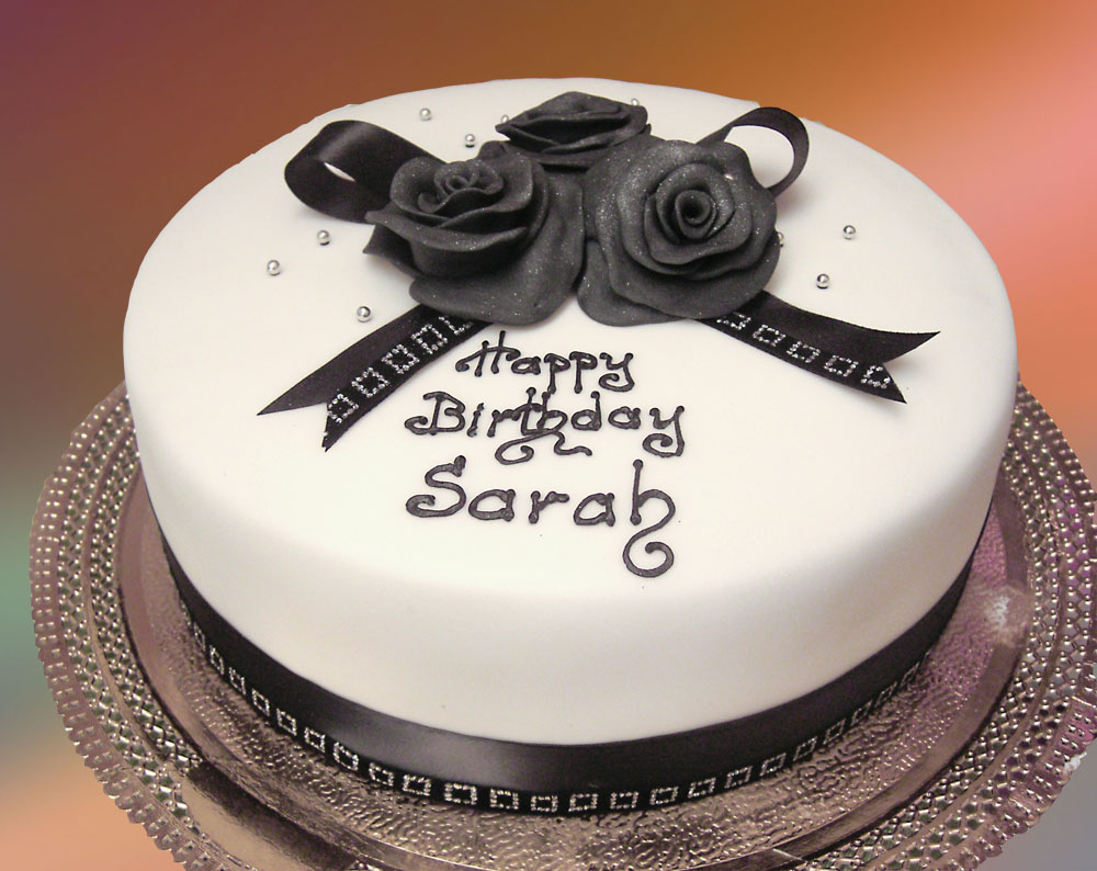 Black And White Birthday Cake Black And White Cake The House Of Cakes Dubais Blog