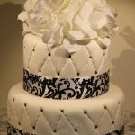 Black And White Birthday Cake Black And White Quilted Fondant Birthday Cake Pennys Food Blog