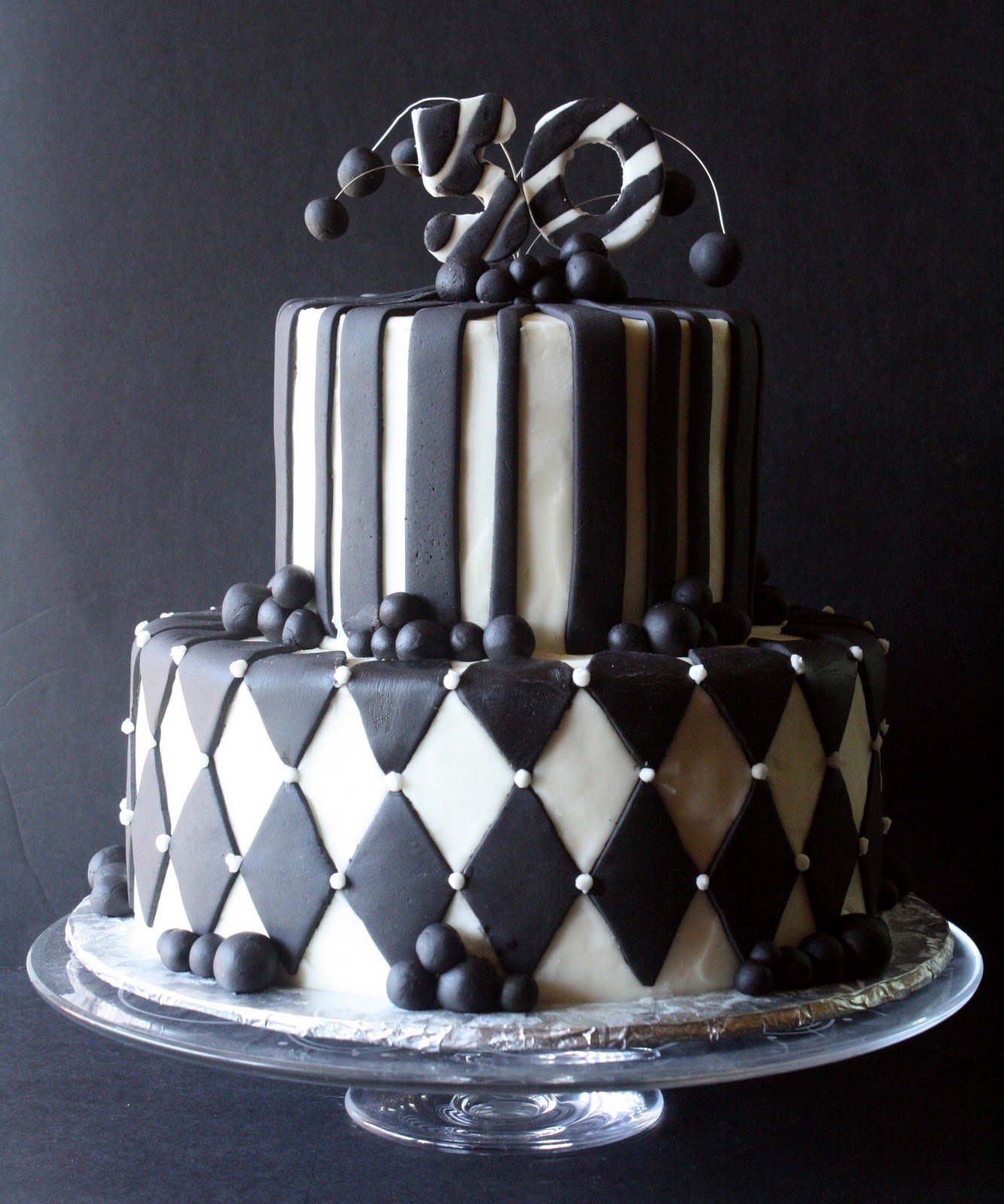 Black And White Birthday Cake Black White 50th Birthday Cake