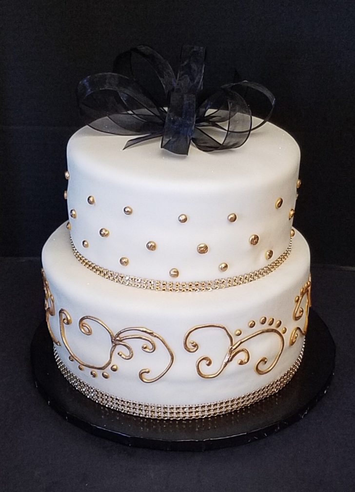 Black And White Birthday Cake Black White And Gold Birthday Cake