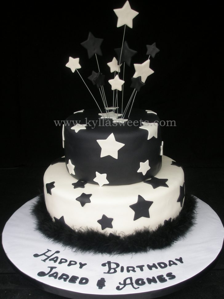 Black And White Birthday Cake Black White Birthday Cake Fernanda Lopes Flickr