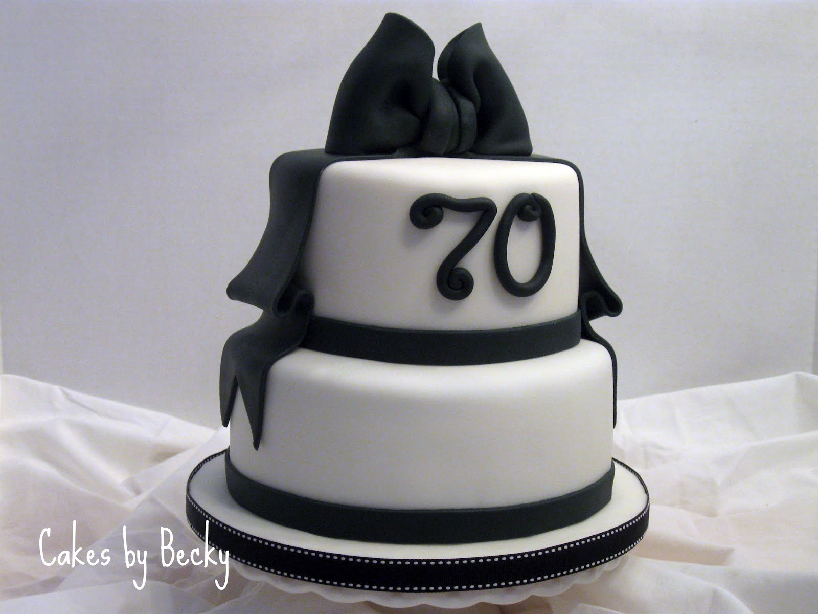 Black And White Birthday Cake Cakes Becky Black White Birthday