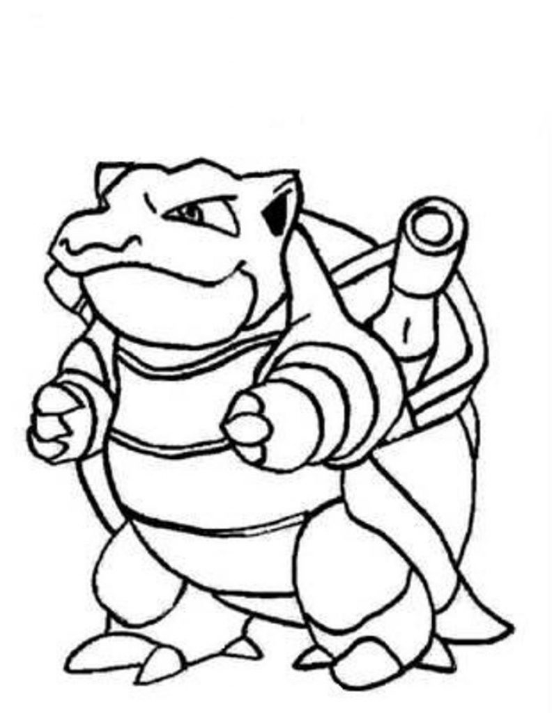 Beautiful Picture of Blastoise Coloring Page