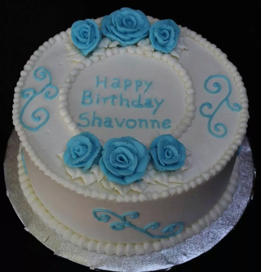 Blue And White Birthday Cake Blue And White Birthday Cake Wedding White Cake With Almond