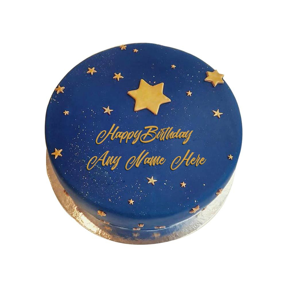 Blue Birthday Cake Blue Elegant Birthday Cake Ohvenly Magarpatta City Pune Bakeway
