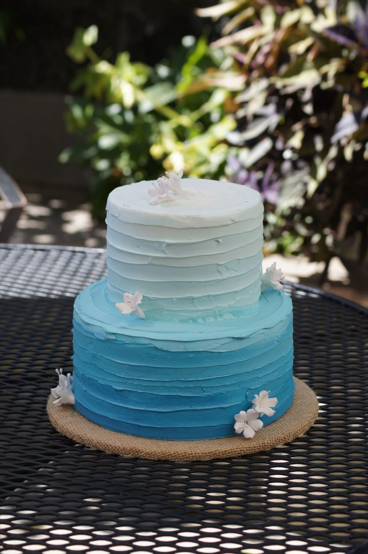 Blue Birthday Cake Blue Ombre Birthday Cake Cake Goodies In 2019 Cake Birthday