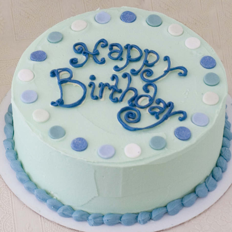 Blue Birthday Cake Buttercream Birthday Cake