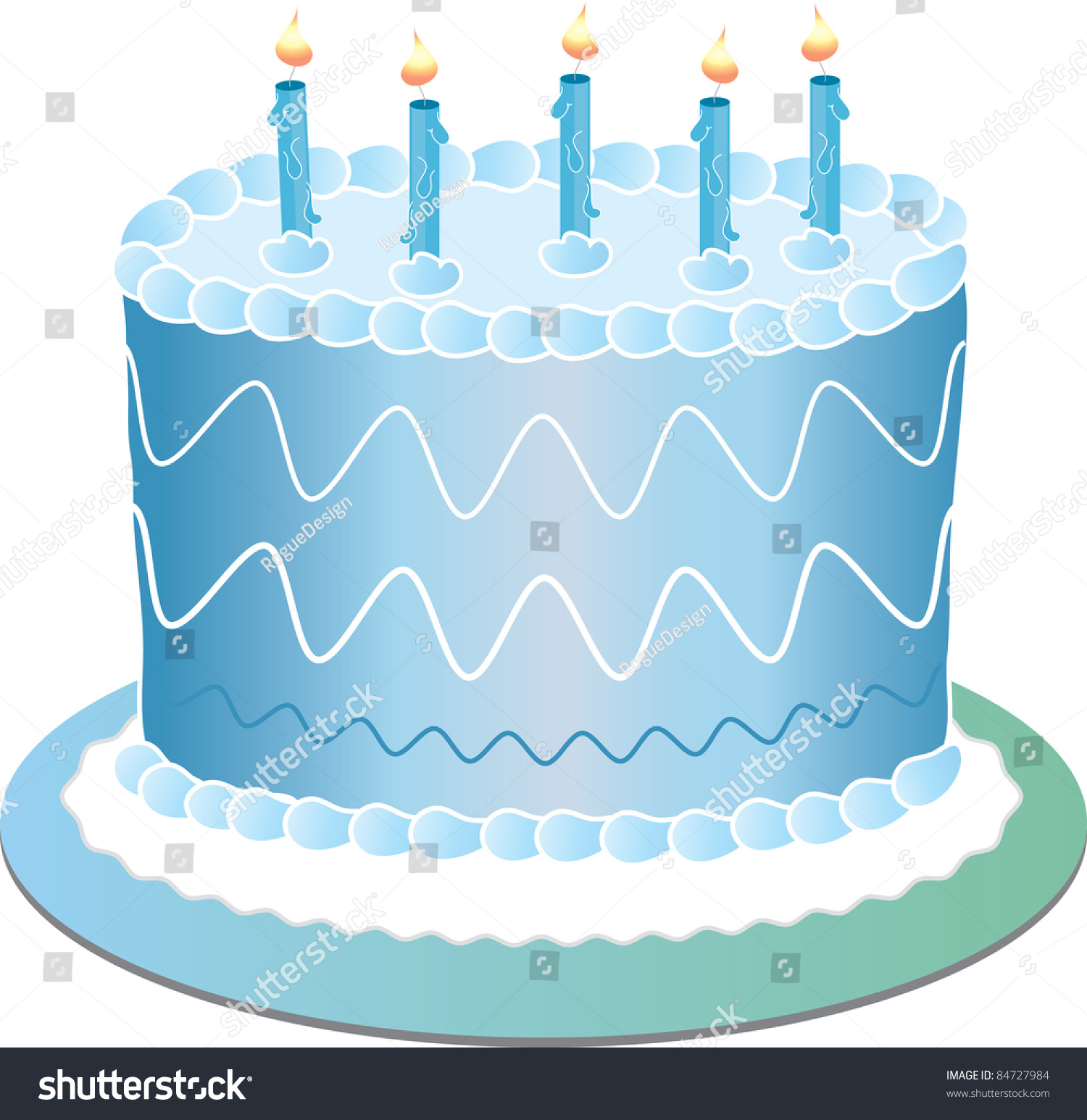 Blue Birthday Cake Clip Art Illustration Blue Birthday Cake Stock Illustration 84727984