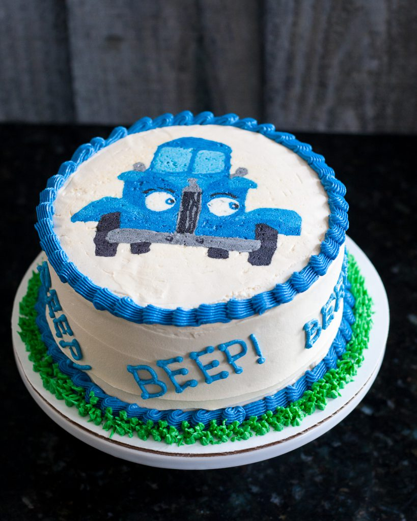Blue Birthday Cake Little Blue Truck Smash Cake Buttercream Transfer Tutorial