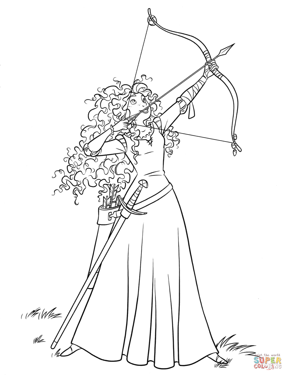Inspired Photo of Brave Coloring Pages