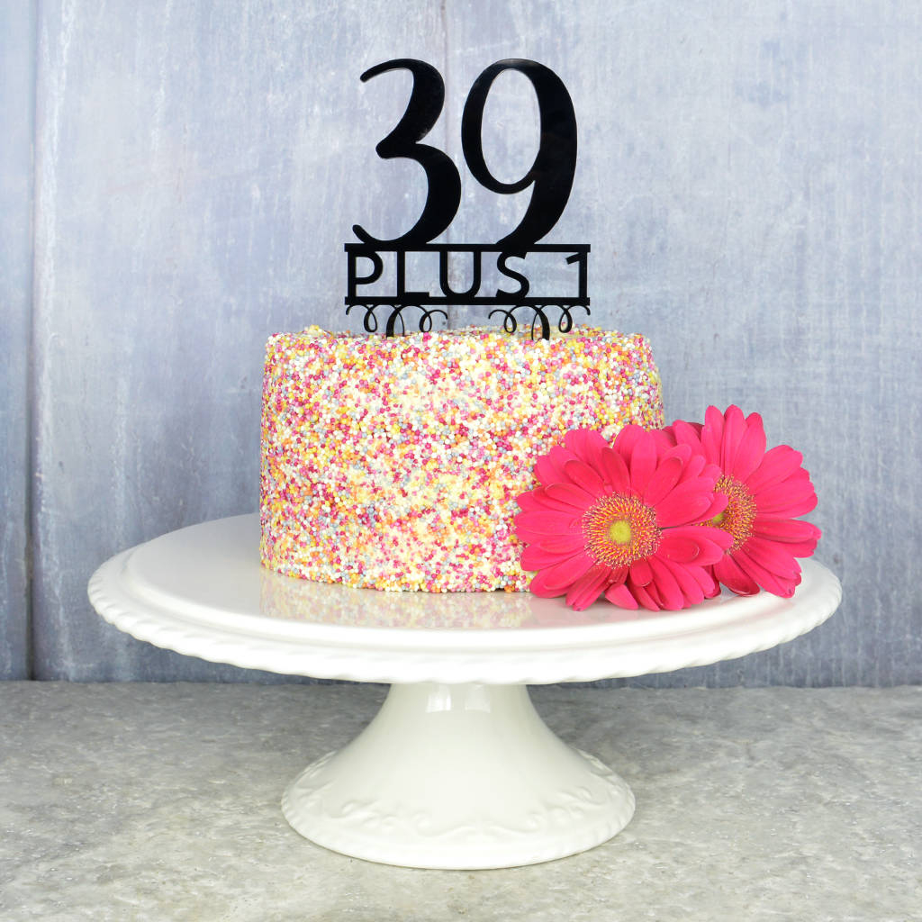 Cake Toppers For Birthday 40th Birthday Cake Topper Pink And Turquoise Notonthehighstreet