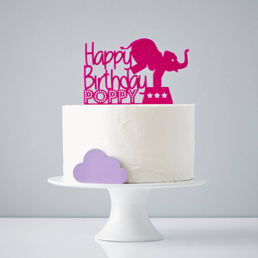 Cake Toppers For Birthday Circus Elephant Personalised Birthday Cake Topper Sophia Victoria